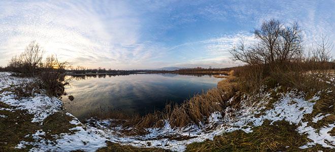 Tüskésréti tó panorama