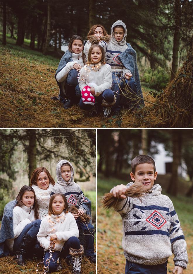 vidám karácsonyi családi fotózás Pécs
