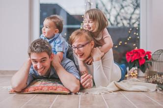 karácsonyi családi fotózás Pécsen