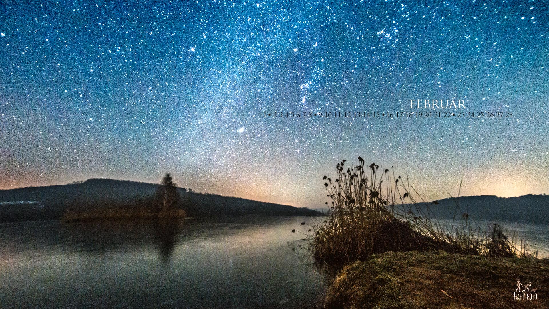 februári naptár háttérkép Februári csillagos ég háttér | Harufoto a kreatív műhely februári naptár háttérkép